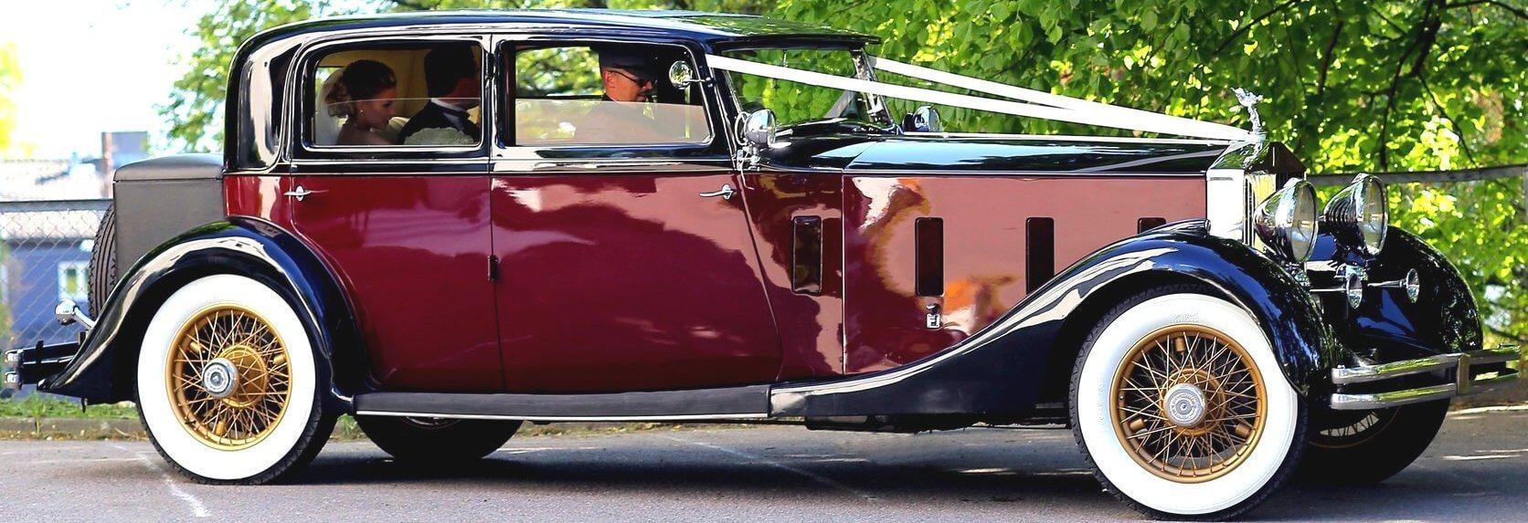 Rolls-Royce Phantom veteranbil klar for bryllupskjøring i Oslo