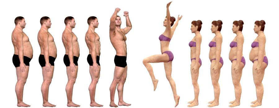 Personer i formstigning ved hjelp av personlig trener og ernæringsfysiolog